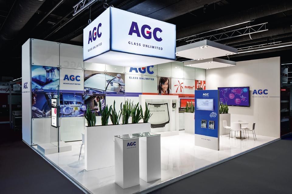 Exhibition Stand Design Presentation : Dual exhibition stands with innovation and presentation u agc