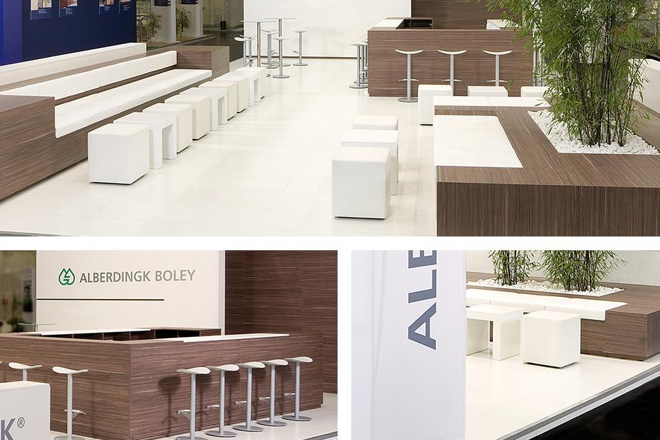 Corner Exhibition Stands Harmony : Harmony of material and form u alberdingk boley ecs meraum